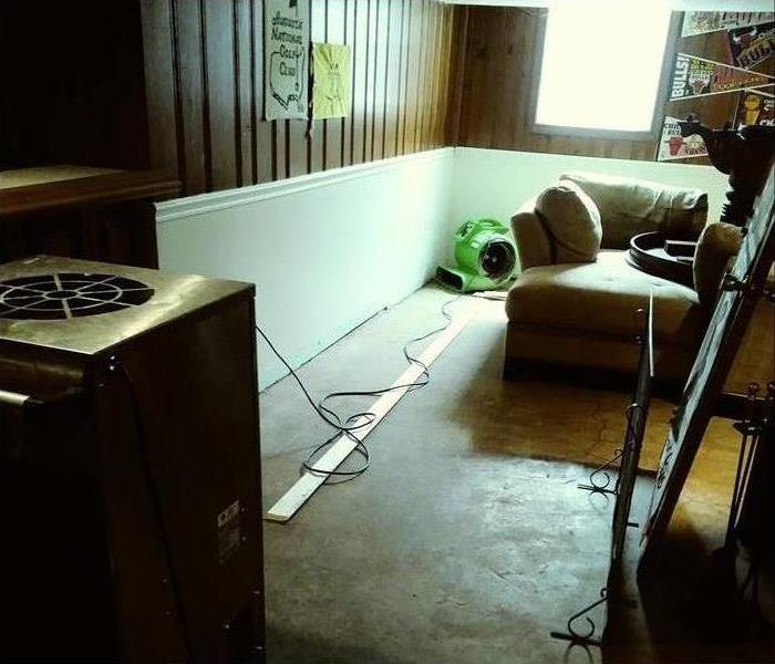 Drying equipment in a living room